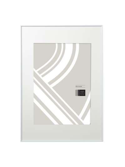 John Lewis & Partners Aluminium/Acrylic Photo Frame, A1/A2 (42 x 59cm) with Mount