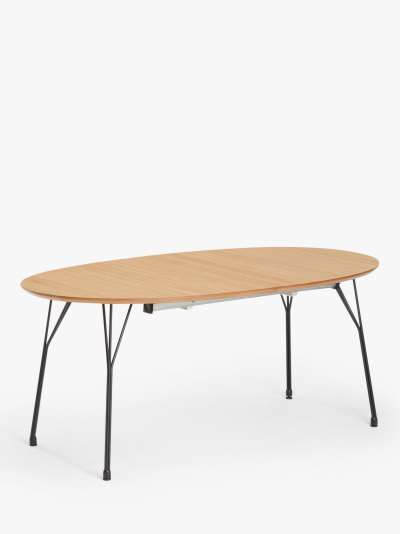 ANYDAY John Lewis & Partners Disc 6-8 Seater Extending Dining Table, Light Brown