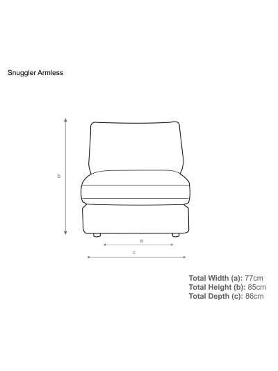 John Lewis & Partners Oliver Modular Snuggler Armless Unit