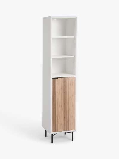 ANYDAY John Lewis & Partners Ridge Tallboy Bathroom Cabinet, White
