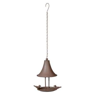 Ivyline Cast Iron Hanging Bird Feeder, Bronze