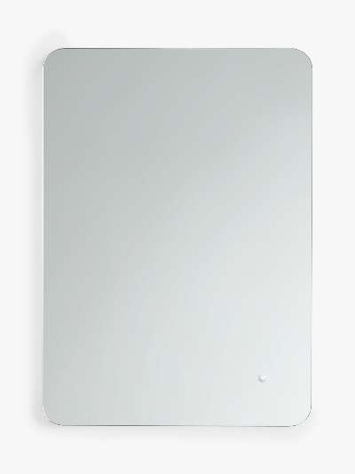 John Lewis & Partneres Halo Wall Mounted Illuminated Bathroom Mirror, Small