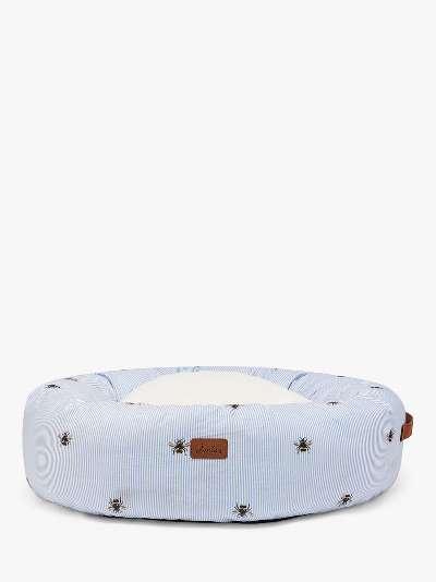 Joules Ticking Bee Doughnut Pet Bed