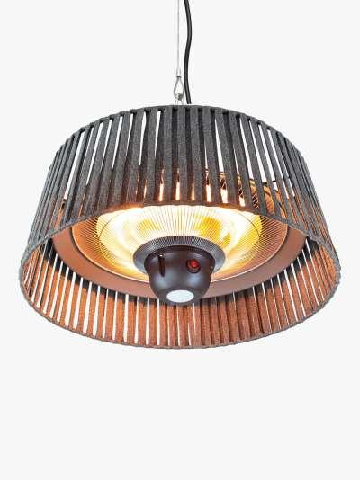 KETTLER Kalos Plush Hanging Pendant Electric Patio Heater, Grey
