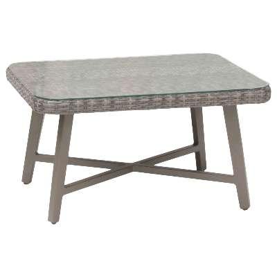 KETTLER LaMode Small Rectangular Garden Coffee Table, Grey Ash