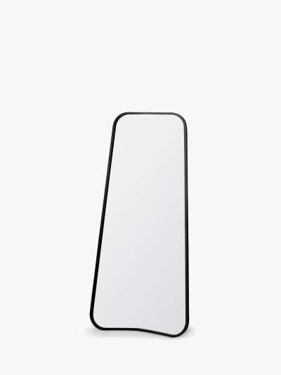 Kurva Curved Metal Corners Leaner Mirror, 123 x 56.5cm