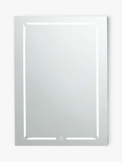 John Lewis & Partners Wireless Sound Single Mirrored and Illuminated Bathroom Cabinet