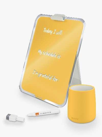 Leitz Cosy Glass Desk Easel & Pen Pot Set