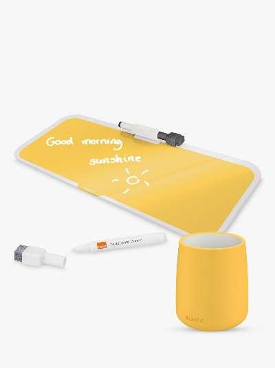Leitz Cosy Glass Desk Notepad & Pen Pot Set