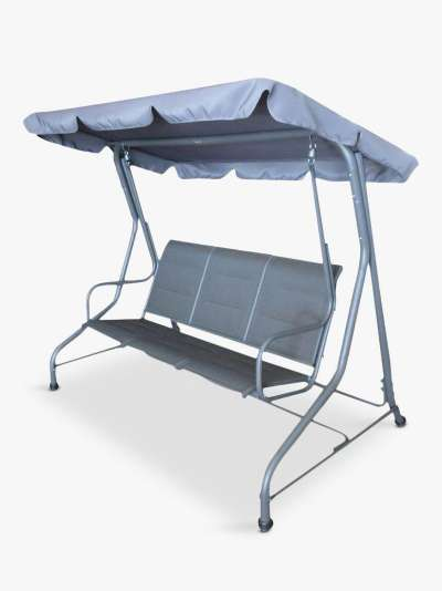 LG Outdoor Milano 3-Seater Garden Swing Seat, Graphite Grey
