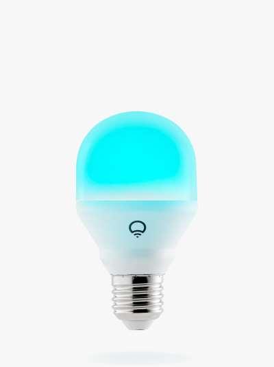 LIFX Mini White and Colour Wireless Smart Lighting Adjustable Colour Changing LED Light Bulb, 9W A60 E27 Edison Screw Bulb, Single