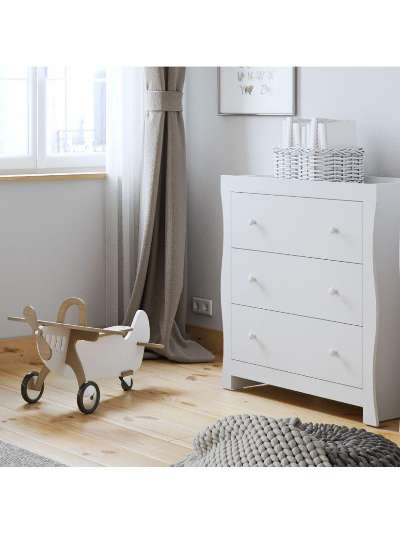 Little Acorns Traditional Sleigh Changing Table Dresser, White