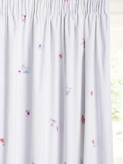 little home at John Lewis Butterflies Pencil Pleat Blackout Children's Curtains, Multi