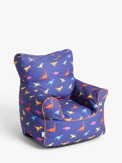 little home at John Lewis Dennis Dinosaur Bean Bag Chair, Multi