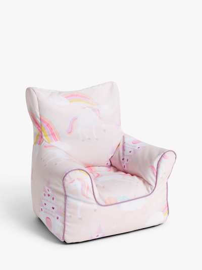 little home at John Lewis Magical Unicorn Bean Bag Chair, Pink