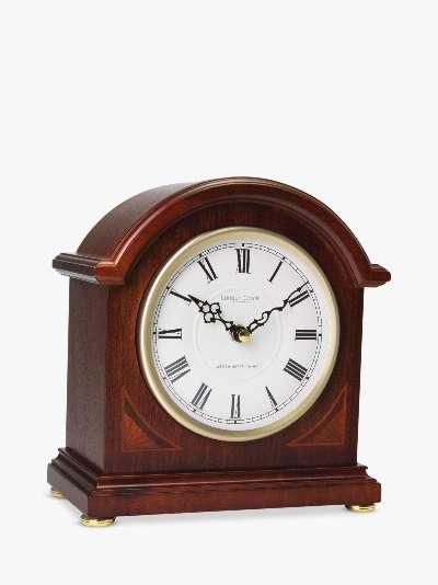 London Clock Company Hourly Chiming Dome Mantel Clock, Natural/Gold