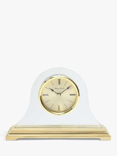 London Clock Company Roman Numeral Analogue Napoleon Mantel Clock, Gold