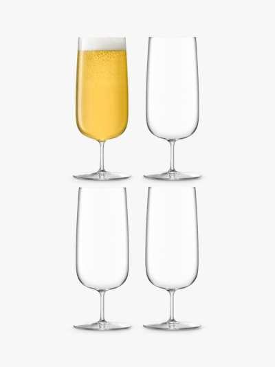 LSA International Borough Shot Glasses, Set of 4, 75ml, Clear