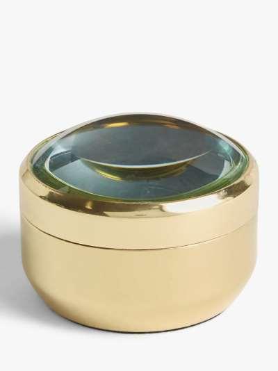 John Lewis & Partners Magnifying Lid Trinket Pot