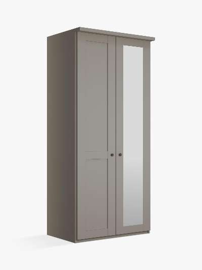 John Lewis & Partners Marlow 100cm Hinged Wardrobe with Right Mirror