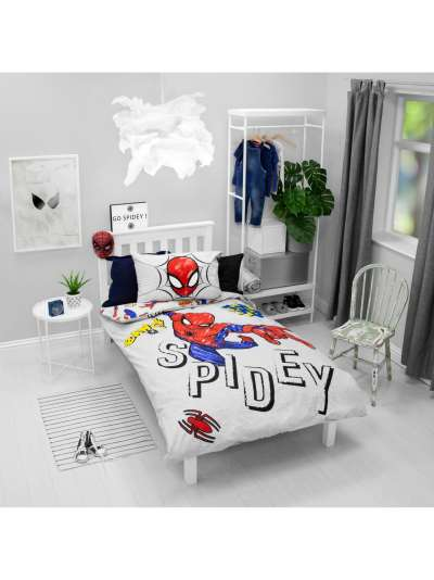 Marvel Spiderman Reversible Cotton Duvet Cover and Pillowcase Set, Double, Multi