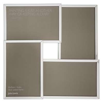 John Lewis & Partners Daya Multi-aperture Photo Frame, 4 Photo, 4 x 6 (10 x 15cm)