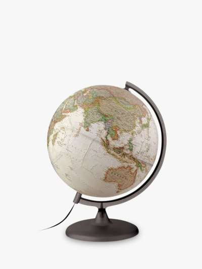 National Geographic Executive Brass Edge Globe, Brown, 30cm