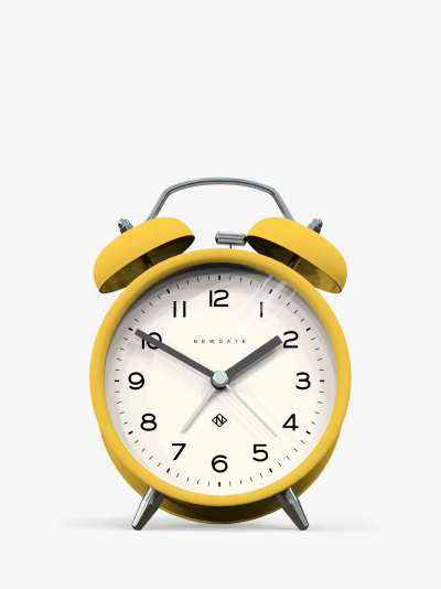 Newgate Clocks Charlie Twin Bell Echo Silent Sweep Analogue Alarm Clock