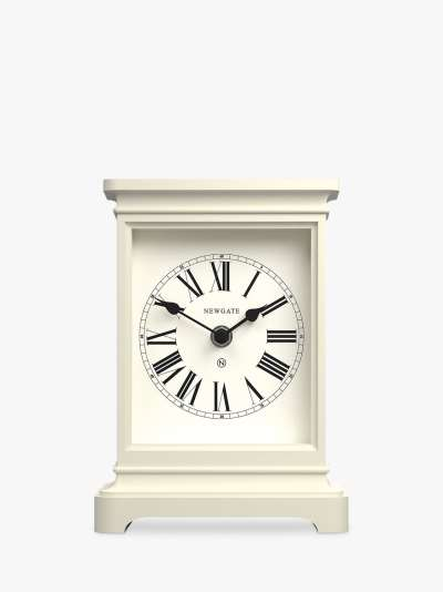 Newgate Clocks Timelord Silent Sweep Roman Numerals Analogue Mantel Clock
