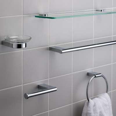 John Lewis & Partners Opus Toilet Roll Holder, Chrome