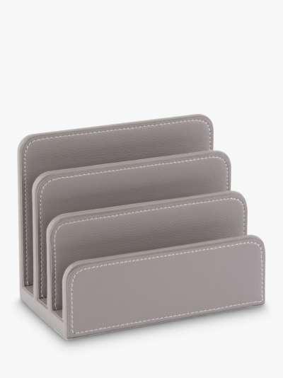 Osco Faux Leather Letter Holder