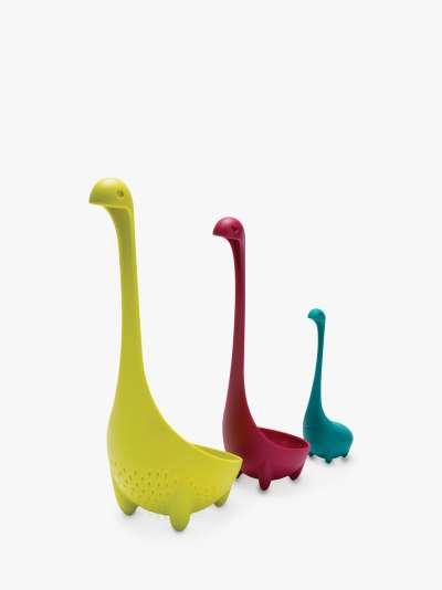 OTOTO Nessie Family Colander Ladle & Tea Infuser Kitchen Set, 3 Piece