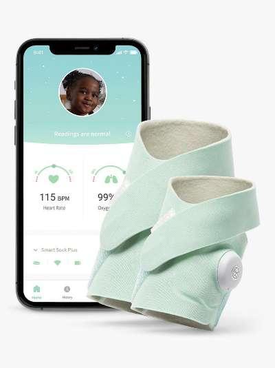 Owlet Smart Sock Plus Baby Monitor, Mint
