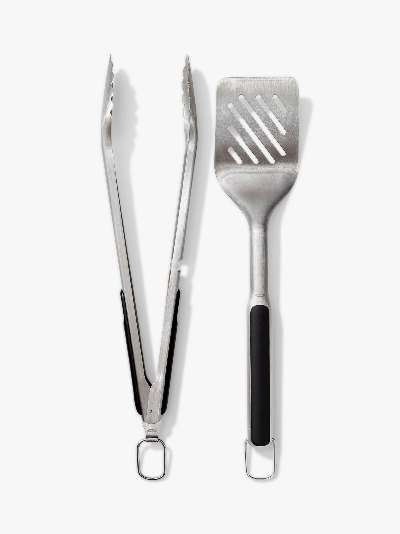 OXO Good Grips Stainless Steel BBQ Turner & Tongs, Set of 2