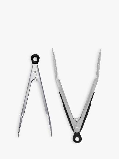 OXO Good Grips Stainless Steel Tongs, Set of 2, Silver/Black