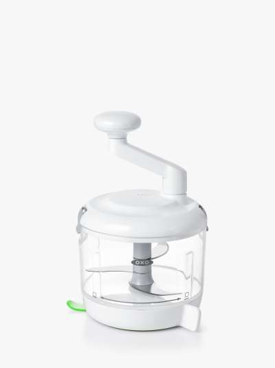 OXO One Stop Chop Manual Food Processor, Clear