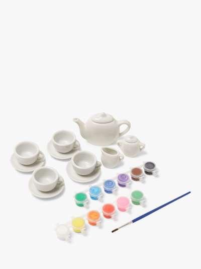 John Lewis & Partners Paint Your Own Tea Set