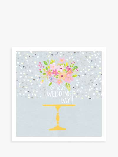 Paper Salad Cake Stand Wedding Day Card