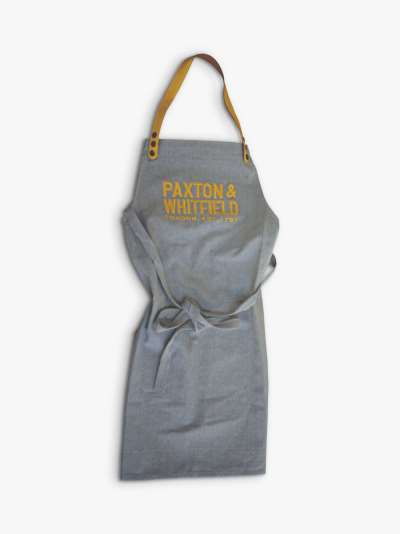 Paxton and Whitfield Recycled Cotton Canvas Apron, Grey