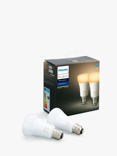 Philips Hue White Ambiance Wireless Lighting LED Light Bulb with Bluetooth, 5W GU10 Bulb, Pack of 2