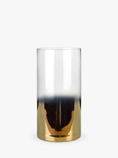 pols potten Hurricane Half Gold Vase, Large, H29.5cm
