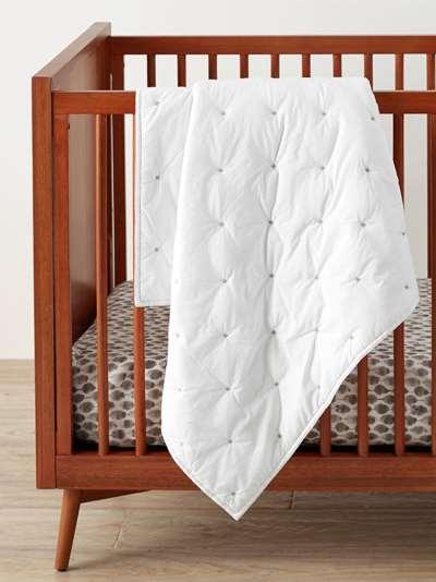 Pottery Barn Kids Organic Cotton Animal Print Fitted Crib Sheet, 70 x 132cm, Multi