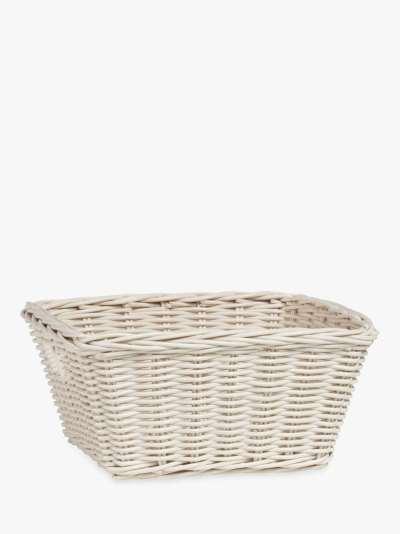 Pottery Barn Kids Sabrina Medium Storage Basket, White