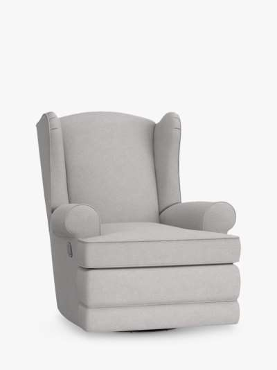 Pottery Barn Kids Wingback Round Arms Reclining Nursing Chair, Light Grey