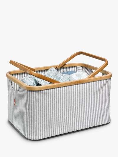 Prym Stripe Canvas Craft Storage Basket