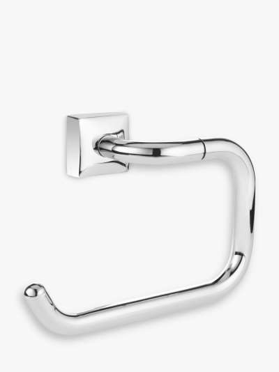 ANYDAY John Lewis & Partners Pure Bathroom Swing Toilet Roll Holder, Chrome
