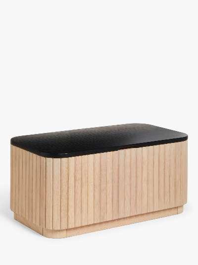 John Lewis & Partners Reed Storage Coffee Table, Oak/Black