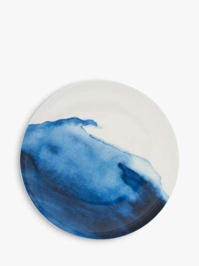 Rick Stein Coves of Cornwall Trevone Bay Salad Bowl, Blue/White, 21cm