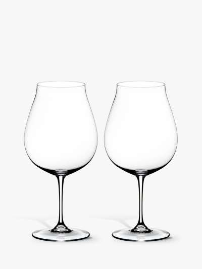 RIEDEL Vinum Pinot Noir New World Crystal Wine Glass, Set of 2, 800ml, Clear