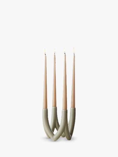 Ro Collection No. 56 Chandelier Candlestick, White Moon